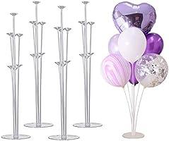 Coriver Ballongträd, höjd bordsballong stativsats med plastpinne ballongstativ, bröllop, födelsedag, trädgårdsfest och...