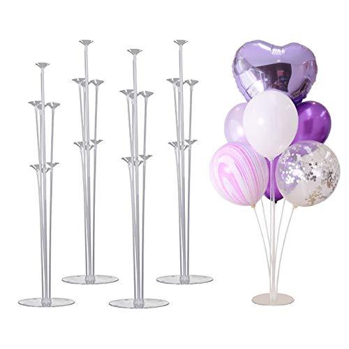 Coriver Balloon Tree,Altezza Tavolo Stand per Mongolfiera con Supporto in plastica Palloncino Base Stand, Matrimonio, Compleanno, Celebrazione del Grande Pallone Accessori
