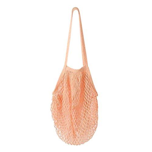 LeeY Einkauftasche Wiederverwendbare Faltbar Umhängetasche Gewebte Shopping Bag Süße Tasche Filztasche Stoff Shopper Bag Henkeltasche Einkaufskorb Aufbewahrung Kaminholztasche (Rosa)