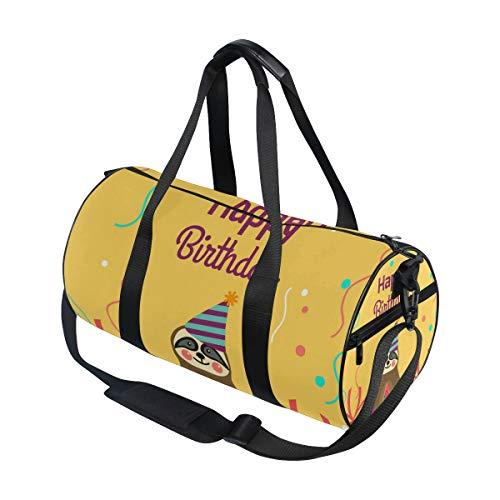 Jeansame Leuke Luiaard Gelukkige Verjaardag Ballonnen Gym Bag Reizen Sport Duffel Tassen Tote Holdall Tas voor Vrouwen Mannen Kid Jongen Meisje