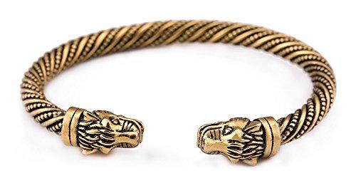 Skyrim 3D Cheetah Kopf Wild Schraube Metall Armreif Armband Geschenk für Damen und Herren