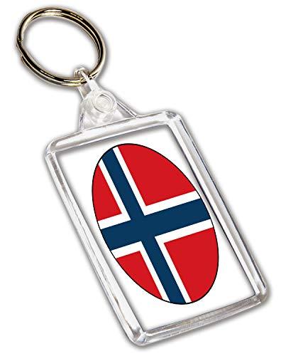 Llavero de bandera de Noruega – Regalo – Cumpleaños –...
