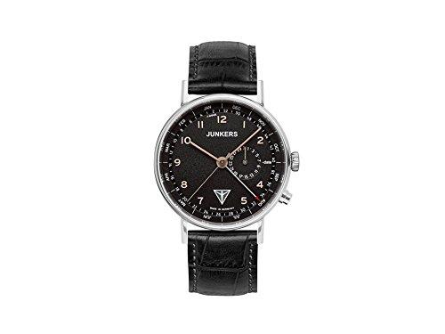 Junkers Herren Analog Quarz Uhr mit Leder Armband 67345