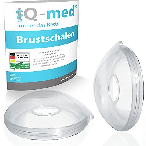 iQ-med Brustschalen | Made in Germany | Milchauffangschale und Brustwarzenschutz (2 Stück)