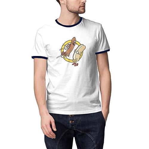 Mens Hot Dog Jumping Into a Bun Short Sleeve Cool T Shirts