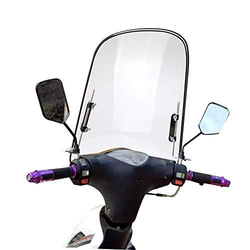Stronrive Motorrad Windschutzscheibe Universal Motorrad Spoilerscheibe Windschild Spoiler für Motorräder Roller, Bruchsicheres, Winddichtes, Kältefestes 42.5cm X 46cm