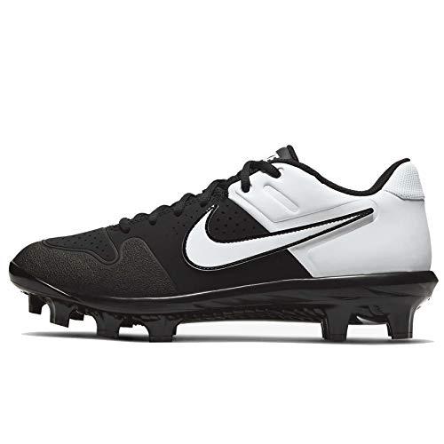 Nike Alpha Huarache Varsity Baseball Cleat Mens (Black/White, Numeric_7)