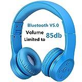 Bluetooth Kopfhörer für Kinder, Hisonic kinderkopfhörer Faltbar, einstellbar, 85 dB Lautstärke...