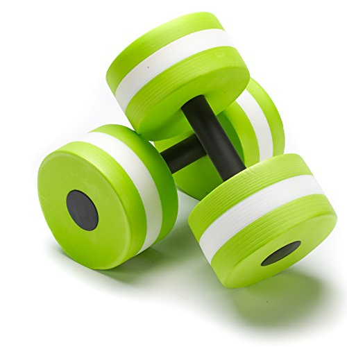 Black Mountain Products Aquatic Exercise Water Dumbbells Set of 2 Green