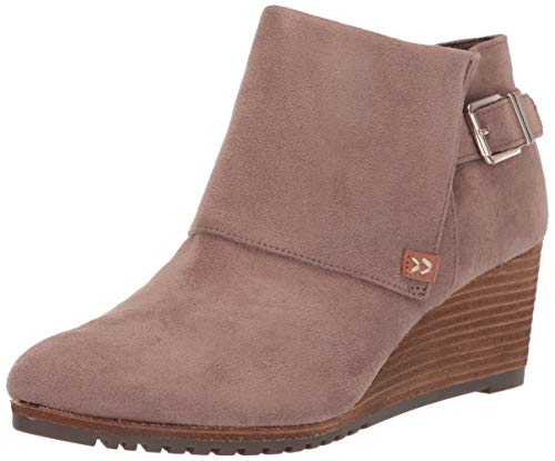 Dr. Scholl's Shoes Women's Create Ankle Boot, Taupe Grey Microfiber, 10