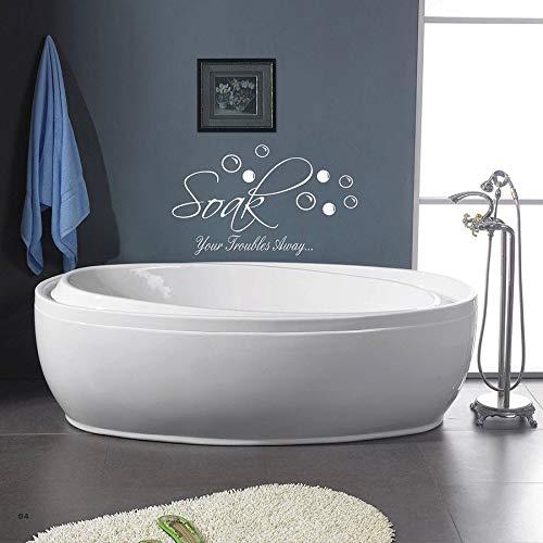 Calcomanías de pared de baño de espuma de jabón empapa tus problemas decoración de calcomanías de vinilo