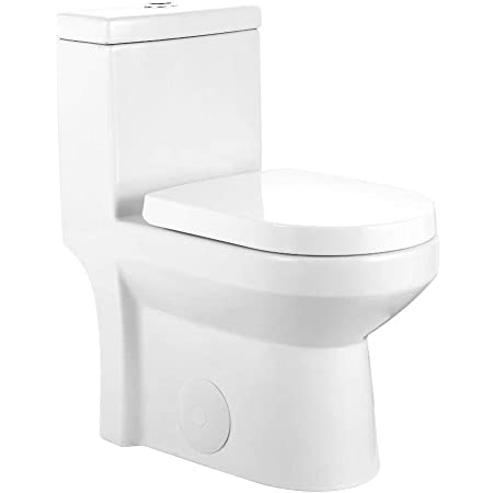 Galba Small Toilet 24 5 Long X 13 5 Wide X 28 5 High Inch 1 Piece 24 25 Short Compact Bathroom Tiny Mini Commode Water Closet Dual Flush Shortest Projection Elongated Concealed Trapway