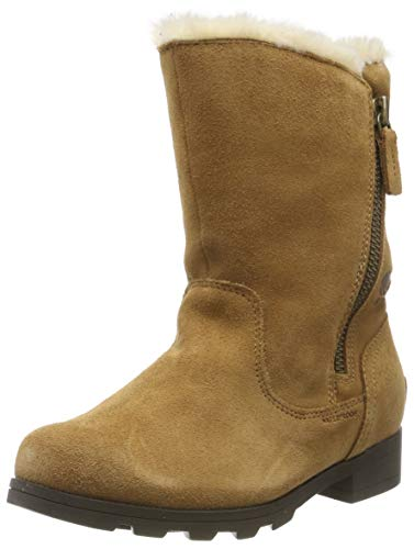 Sorel Youth Emelie Fold-Over Boot (4 M US Big Kid, Camel Brown/Natural)
