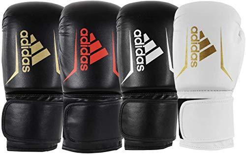 adidas Unisex Jugend Speed 50 Boxhandschuhe, schwarz/weiß, 6 oz