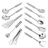 Tenta Kitchen 11PCS Set di utensili da cucina in acciaio inox Set di utensili da cucina pe...