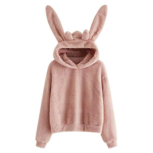Read About Amlaiworld Womens Winter Cotton Sweater Long Sleeve Rabbit Hoodie Sweatshirt Pullover Top...