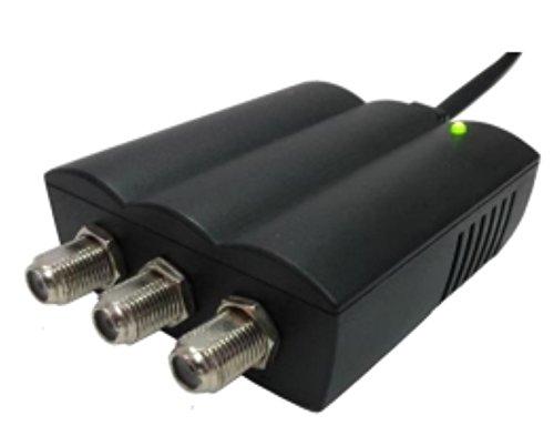 Mini amplificador de interior 2 salidas LTE Free 1 en – 2 OUT VHF/UHF 112DBUV GUADAGNO 25DB AV 50033