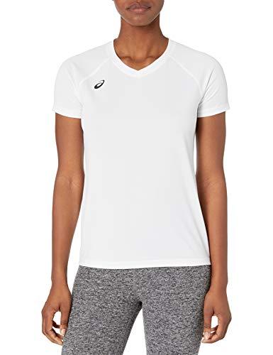 ASICS Circuit 8 Aufwärmshirt Kurzarm, Damen, kurzärmelig, Circuit 8 Warm-up Shirt, weiß, XX-Large