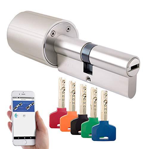 VisorTech Schloss: Elektronischer Tür-Schließzylinder mit 5 Schlüssel, für ZigBee-Gateway (Elektrisches Türschloss)