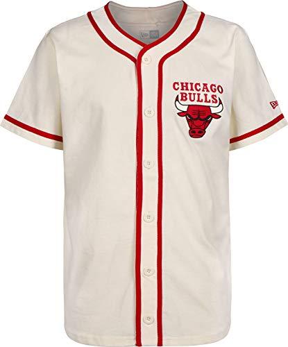 A NEW ERA Era NBA Piping Button Up Chicago Bulls Camisa Mang