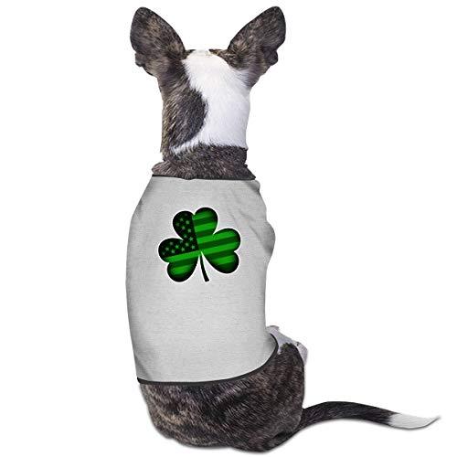 merahans Irish Shamrock USA Flag St Patrick's Day Dog Clothes T-Shirts Fashion Funny Cat Dog Jumpsuit