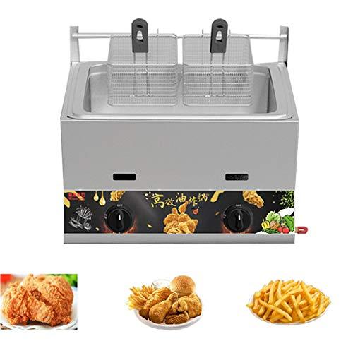 11L / 23L Friggitrice professionale da banco a gas da banco in acciaio inossidabile Frittura francese per ristorante Home Patatine fritte Pollo Frittura Cucina