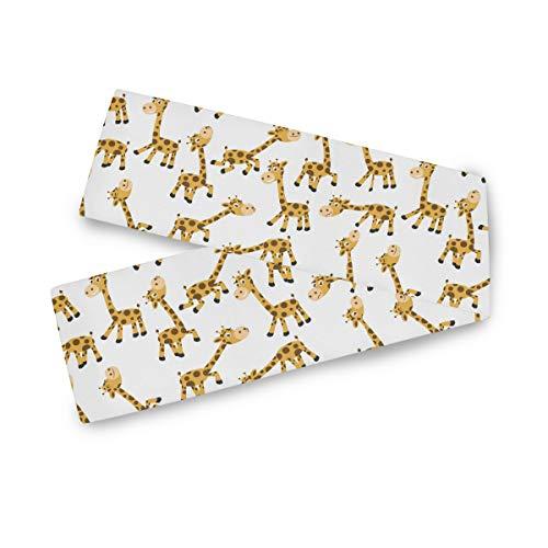 TropicalLife Camino de mesa rectangular F17 con estampado de jirafa, diseño de animales, 33 x 228 cm, poliéster, decoración para bodas, cocinas, fiestas, banquetes, comedores, mesas de café
