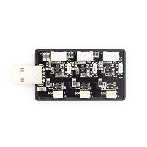 KINGDUO Emax Tinyhawks Ersatzteil 3 Way 1-2S Lipo Ladegerät USB Port Für Rc Drone FPV Racing