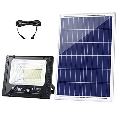 Foco Solar Exterior 25W 200W, 6000k Proyector Led Exterior Solar 127 LED 574 LED, IP67 A Prueba De Agua 4000MAH 20000mah Luz Led Solar Exterior Para Carreteras, Patios(Size:120W,Color:Luces solares)