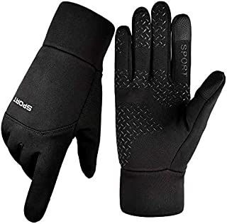 Outdoor Anti-skin Glove Touch Screen Plus Velvet Sports Cycling Gloves, Martian E-Commerce (Color : Single bend full refer...