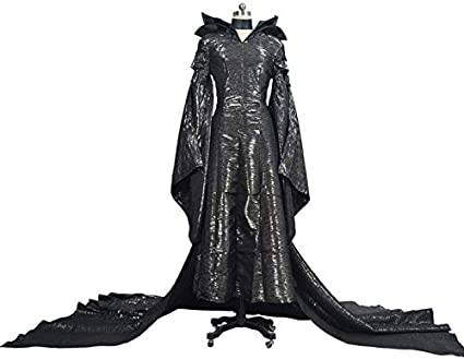 Details about  /Maleficent Evil Queen Cosplay Costume Party Outfit Fancy Dress Hat Adult Set