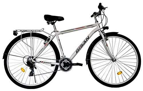 T 28 Zoll Jungen Herren City Trekking Jugend CITYBIKE Fahrrad Herrenfahrrad KINDERFAHRRAD CITYFAHRRAD Rad Bike 21 Gang Man Weiss 5200