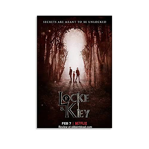 Locke & Key Movie Aesthetics Poster Decorative Painting Canvas Wall Art Living Room Posters Bedroom Painting 12x18inch(30x45cm)