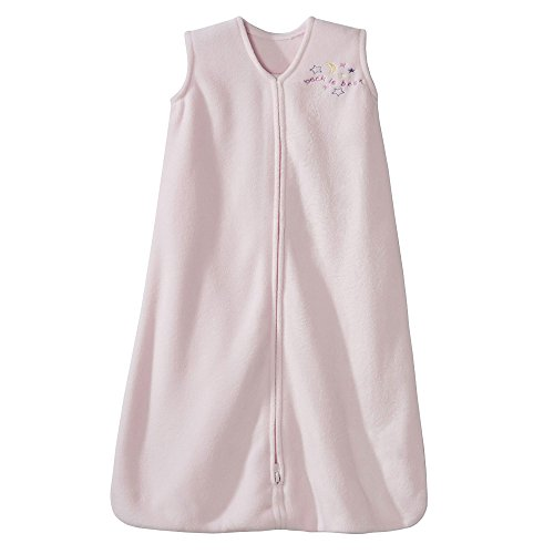 HALO Sleepsack Micro-Fleece Wearable Blanket, Soft Pink,...