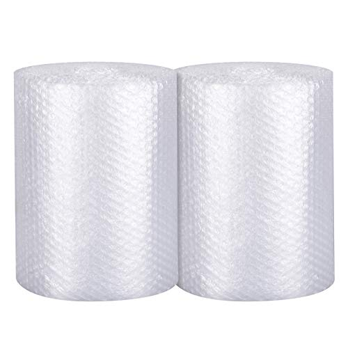 Bubble Cushioning Wrap 2 pack - Bubble Cushioning Wrap for Moving with Perforated Every 12��, Easy to Tear, Small Bubble, Thicker & Durable for Packing, Delivering & Moving (12�� x72 Feet, 36�/Roll)