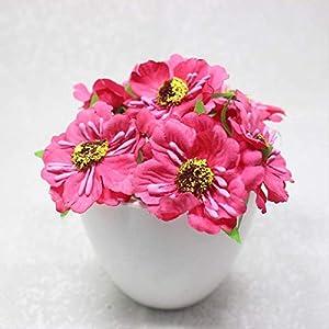 DSWJH Artificial Flower Heads Mini Silk Artificial Poppy Bouquet Wreath Scrapbook Wedding Decoration Fake Flower