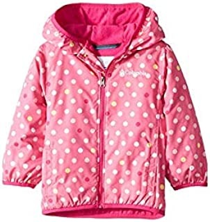 Columbia Kids Baby Girl's Mini Pixel Grabber¿ II Wind Jacket (Infant/Toddler) Wild Geranium Polkadot 0-3 Months