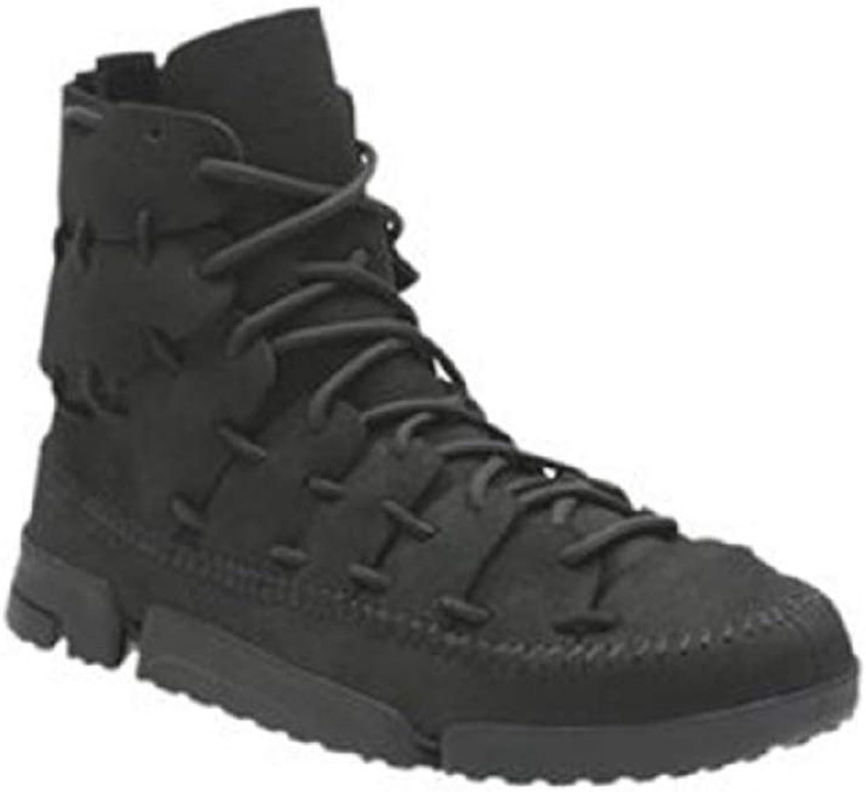 Clarks Trigeniska skala Mens svart svart svart Leather Casual Dress Lace up Boots skor  kundens första rykte först