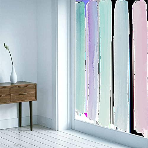 Privacidad Laminas Vinilo Ventana Cristal Pegatina Rayas Creativas Anti UV La Película Decorativa de Moda es Adecuada para Oficina, Tienda, Hogar, Color(60x300cm)
