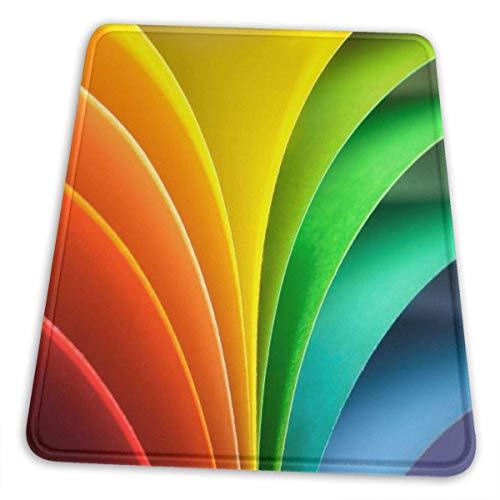 Mauspad, Premium-strukturierte Mausmatte, rutschfestes Gummibasis-Mousepad für Laptop, Computer und PC, mehrfarbig und multisize, abstrakter Regenbogenhintergrund mit farbigem Papier