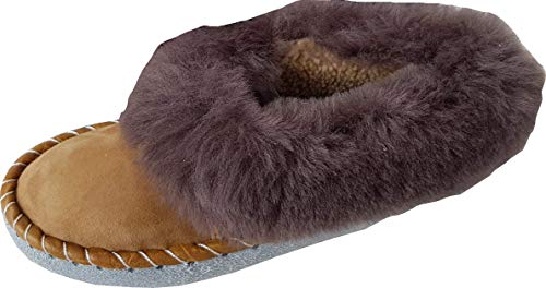 Lusy011 LAMMFELL Warme Hausschuhe Gr.37 NEU, Schaffell/-Leder (Made in Poland 444-30/21)