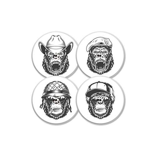 MySweetStitch   Freestyle Libre Sensor Sticker 4er Set Monkey Edition   mit Loch für Belüftung der Haut