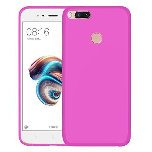 TBOC Funda de Gel TPU Rosa para Xiaomi Mi A1 [5.5 Pulgadas] Carcasa de Silicona Ultrafina y Flexible para Teléfono Móvil