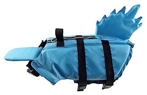 M3 Decorium Chaquetas de la Vida para Perros Pet flotación Chaleco Salvavidas Salvavidas natación Cachorro Traje de baño Abrigo Ajustable para Perros con Asas (Color : Blue, Size : L)