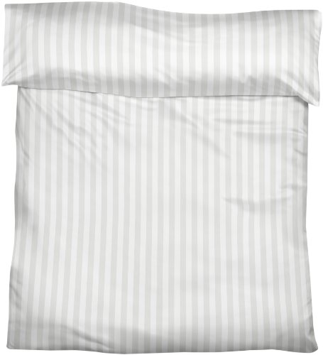 Fleuresse Streifsatin Bettbezug, weiß, 135 x 200 cm