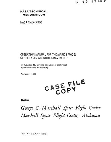 Operation manual for the Mark 1 model of the laser absolute gravimeter (English Edition)
