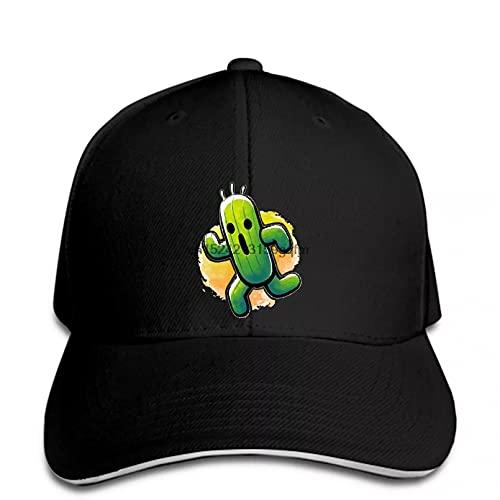 Clásico Gorra de béisbol Videojuegos de rol Cactus Men's GamerGorra Casual Snapback Pico Regalos Deportivos Aire Libre para Amantes del Hip-Hop