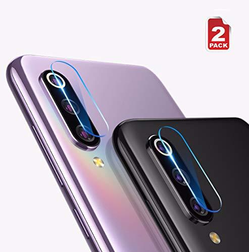 NOKOER Protector Cámara para Xiaomi Mi 9 SE, [2 Pack] Protector de Pantalla Cámara, 2.5D Película de Protección de Vidrio Templado Resistente a Los Arañazos [Protege la Cámara Trasera] - Transparente