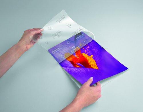 Fellowes Laminierfolien A4 ImageLast, 80 Mikron (2 x 80 mic), glänzend, 100 Stück, transparent mit Ausrichtungshilfe