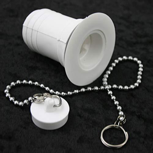 Desagüe para lavabo o caravana, recto, 32 mm, color blanco